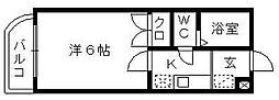 静岡県浜松市中区助信町の賃貸マンションの間取り