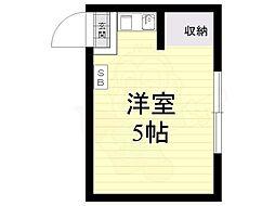 エニシ吉祥寺1 1階ワンルームの間取り