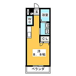 メゾン・クレール[1階]の間取り