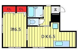 山一コーポ新井[3階]の間取り