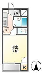 コーポT&T吉田[2階]の間取り