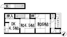 K'sハイム花屋敷[2階]の間取り