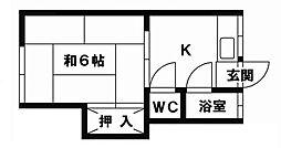 第一的場アパート[2階]の間取り