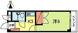ネオナヲス[2階]の間取り