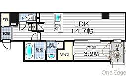 Y'sCourt東梅田[11階]の間取り