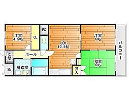 シャトー林[2階]の間取り