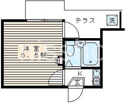 3321−レオパレス鷺の宮[1階]の間取り