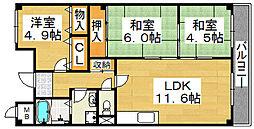 コンコードトキワ[2階]の間取り