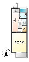 コスモハイツ赤坂[2階]の間取り