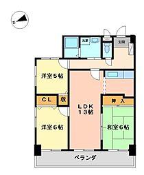 宝マンション大須[9階]の間取り