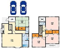 南海高野線 大阪狭山市駅 徒歩30分の賃貸一戸建て 1階4LDKの間取り
