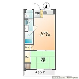 矢島マンション[402号室]の間取り