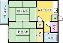 小島ハイツ[205号室]の間取り