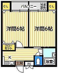 アポローズマンション[1階号室]の間取り