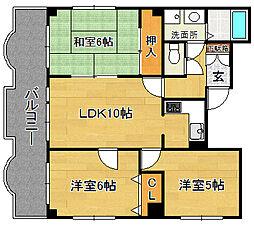 シティガーデン奈良屋[4階]の間取り