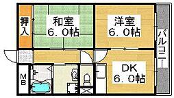 松岡ビル北花田[4階]の間取り