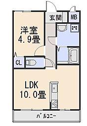 木津ロイヤルメゾン[1階]の間取り