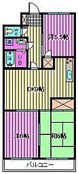 埼玉県さいたま市南区太田窪4丁目の賃貸マンションの間取り