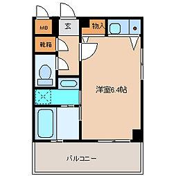 ナッツダムスタジオーネ塚口[4階]の間取り