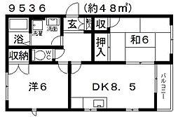 オリーブハウス[102号室号室]の間取り
