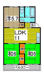 第2末広マンション[3階]の間取り