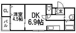 HS213[403号室]の間取り