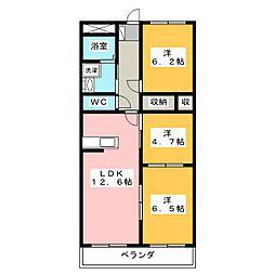グランドゥール稲川[4階]の間取り