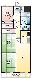 ルネ須磨[11階]の間取り