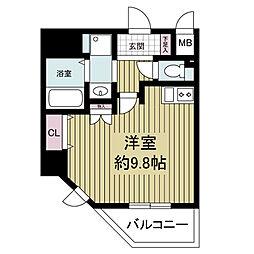 S-RESIDENCE Hommachi Marks[1501号室]の間取り