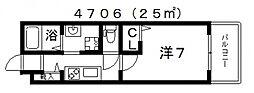 グランパシフィック阪南町[4階]の間取り