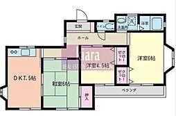 メゾンカワイ第4[2階]の間取り