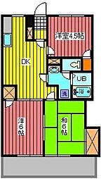 コーポハヤ[1階]の間取り