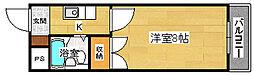少林寺TKハイツ[3階]の間取り