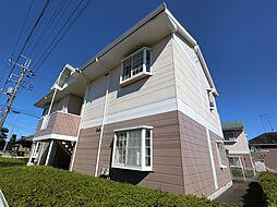 千葉県成田市新駒井野の賃貸アパートの外観