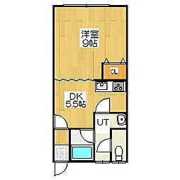 Mハイツ宮の森1[2階]の間取り