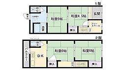 [テラスハウス] 大阪府大阪市鶴見区浜3丁目 の賃貸【/】の間取り
