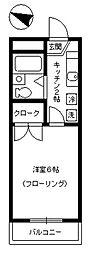 東京都江戸川区南篠崎町4丁目の賃貸マンションの間取り