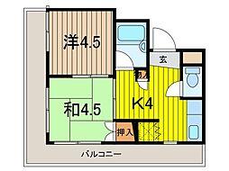 ぷち・あみ蕨[6階]の間取り