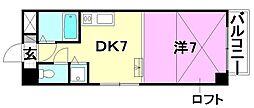 タケワラ148[603 号室号室]の間取り