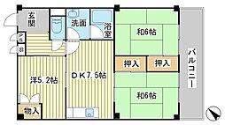 セントラル向陽台[2階]の間取り