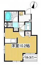 永野マンションII[4階]の間取り