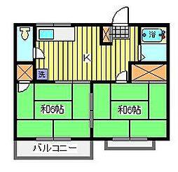 埼玉県川口市青木5丁目の賃貸アパートの間取り
