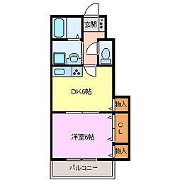 メゾンニュー池島II[B105号室]の間取り