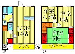 [一戸建] 千葉県柏市南逆井4 の賃貸【/】の間取り