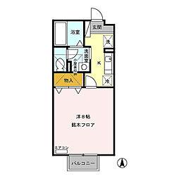 パインブリッジハウス(稲里町中央)[205号室号室]の間取り