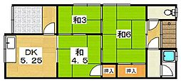 [タウンハウス] 大阪府枚方市上島町 の賃貸【大阪府 / 枚方市】の間取り