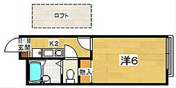 レオパレスプランタン弐番館[2階]の間取り