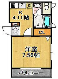 シャーメゾンKOGACHI[1階]の間取り