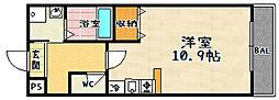 ローサセタ[105号室]の間取り