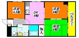 コンフォート・布施 701号室[7階]の間取り